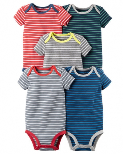 7003199da Carters 5-Pack Short-Sleeve Bodysuits