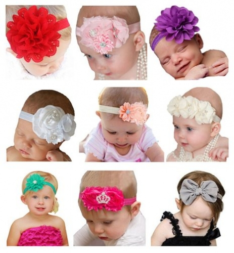 Baby Girl s Beautiful Headbands Elastic Headband 9f3f2783d7b