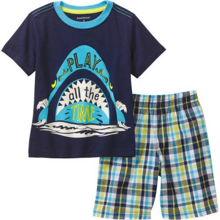 fbe6c49fd Healthtex Baby Toddler Boy Graphic Tee and Short Outfit Set