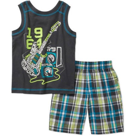 42661cb32 Healthtex Baby Toddler Boy Graphic Tank and Shorts 2-Piece Outfit Set