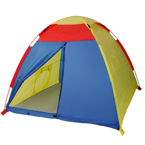 reputable site 7c914 e6975 WolfWise Play Tent Indoor Outdoor Beach Tent Sun Shelter 4 Kids Play House  with Two Tunnel Entrance, 59