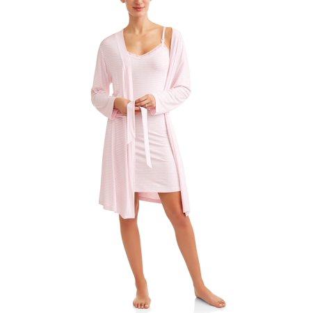 256b696534c63 Lamaze Maternity 2-Piece Nursing Chemise and Robe Set