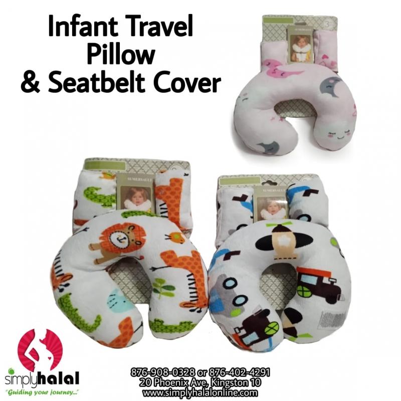 infant travel pillow seat belt cover