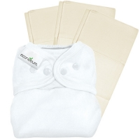 Econobum: Trial Pack 1 Diaper Cover 3 Prefolds