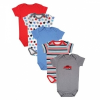 Luvable Friends Hanging 5 Pack Car Themed Bodysuits