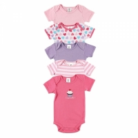 Luvable Friends Hanging 5 Pack Cupcake Bodysuits