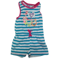 Girl's Sleeveless Romper - Love