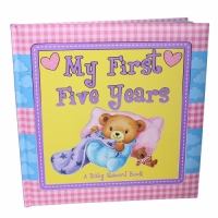 "Baby Record Book, Baby Keepsake Diary, Padded ""My First Five Years"""