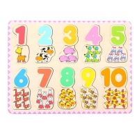 Wooden Number and Colour Matching Puzzle (Wooden)