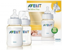 Twin Pack Philips Avent 2 Pack Bottles 4 oz