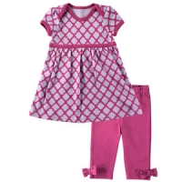 HUDSON BABY GIRLS DRESS & LEGGINGS