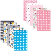LUVABLE FRIENDS 5 COUNT FLANNEL RECEIVING BLANKETS