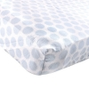 LUVABLE FRIENDS FLANNEL FITTED CRIB SHEET, BLUE FUZZY DOT