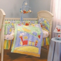 Dolly Toot Toot 4 Piece Crib Bedding Set