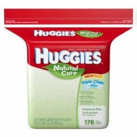 Huggies Natural Care Baby Wipes, 176 Sheets