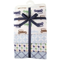 HUDSON BABY FLANNEL RECEIVING BLANKETS 4-PACK