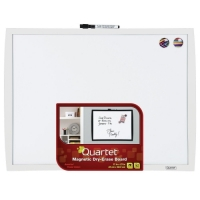 "Quartet Magnetic Dry-Erase Board, 17""x23"", White Frame"