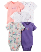 Carters 5-Pack Short-Sleeve Bodysuits - Girl