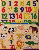 2 Pack Set - Animals & 123 Lift & Learn Puzzle