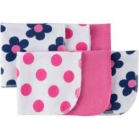 Gerber 6 Pk Washcloth - Flower