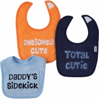 Gerber Boy 3-pack Terry Bibs