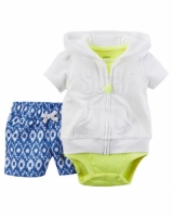 Carters 3-Piece Short-Sleeve Cardigan Set