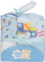 Snugly Baby Boy's Hooded Towels 3-pack - Blue