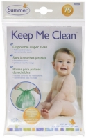 Summer Infant Keep Me Clean Disposable Diaper Sacks Travel Pack, 75-Count