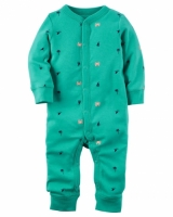 Carters Cotton Snap-Up Footless Sleep & Play Style