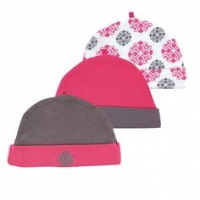 Yoga Sprout Caps 3-Pack - Pink Medallion