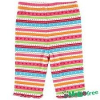 Luvable Friends Baby Girl Leggings - Multi-Color Stripe - 0-3 Months