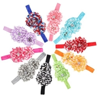 Baby Girls Headbands - Rainbow Flowers