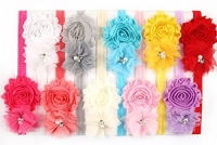 Baby Girls Headbands - Grenadine Flower