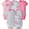 Girls 5-pack Onesies® Brand Short Sleeve Bodysuits - Elephant