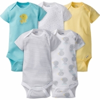 Neutral 5-pack Onesies® Brand Short Sleeve Bodysuits - Darling Duck