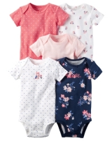 Carters 5-Pack Short-Sleeve Original Bodysuits
