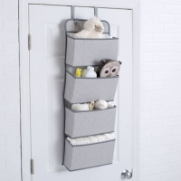 Delta Children 4 Pocket Hanging Wall Organizer, Dove Grey