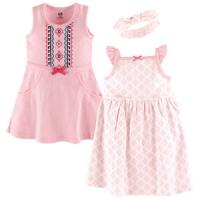 3 Piece Dress and Headband Set - Aztec