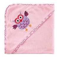 LUVABLE FRIENDS APPLIQUE HOODED TOWEL