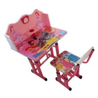 Kids Study Table with Chair - Princess