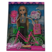 Doll with Bicycle