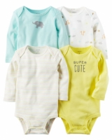 Carters 4-Pack Long-Sleeve Original Bodysuits
