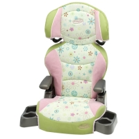 Big Kid LX Booster Car Seat, Flower Power