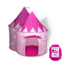 Fox Print Princess Castle Play Tent with Glow in the Dark Stars