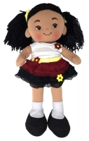 Nadia Fabric Rag Doll - 16 Inch