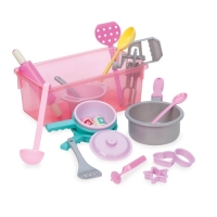 Play Circle Cookware Kitchen Accessories Toy Playset (21 pieces)