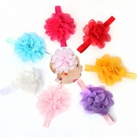 Baby Girls Headbands - Chiffon Flowers
