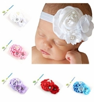 Baby Girls Headbands - Crystal Flower