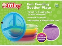 Nuby 2-Pack Fun Feeding Section Plate