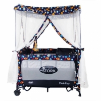Stork Portable Playard with Canopy and Travel Bag